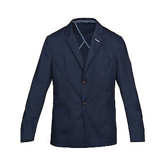 Unlined Cotton Blazer - Navy