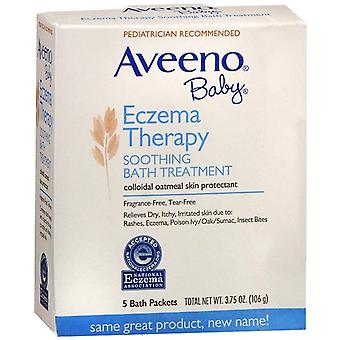 Aveeno baby eczema therapy soothing bath treatment, packets, 5 ea