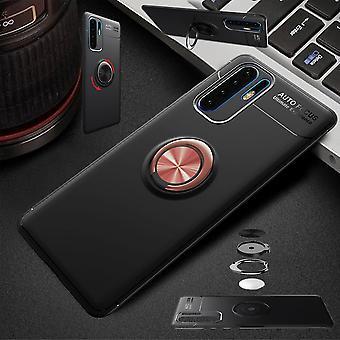 Für Huawei Y6 2019 Magnet Metall Ring ultra dünn Case Schwarz / Pink Tasche Hülle Cover Etuis Schutz
