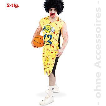 Zombie basketball player Mr costume bloody horror sportsman mens Halloween costume