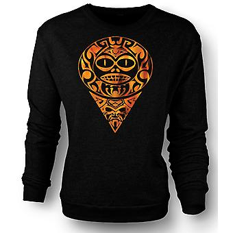 Mens Sweatshirt Aztec Tattoo Flammen - Tribal