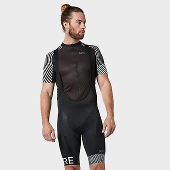 Nieuwe Gore mannen ' s C5 optiline lichtgewicht Bib Shorts + zwart/wit