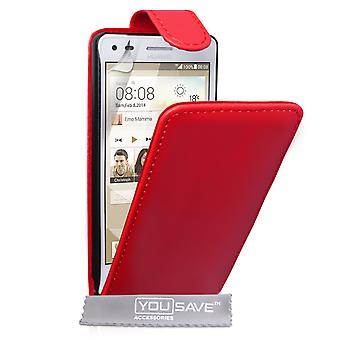 YouSave Accessories Huawei Ascend G6 Leather-Effect Flip Case - Red