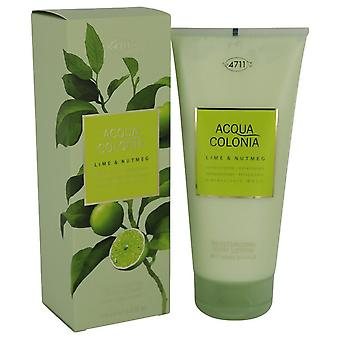 4711 Acqua Colonia Lime & Nutmeg Body Lotion By Maurer & Wirtz 200 ml