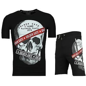 Shorts tracksuit-sale of Jogging suits men-F567-Black
