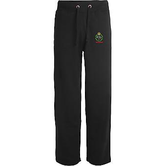 Royal Tank Regiment Veteran - Licensed British Army Embroidered Open Hem Sweatpants / Jogging Bottoms