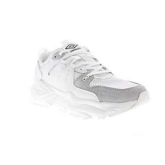 Umbro Runner  Mens White Suede Mesh Casual Low Top Sneakers Shoes