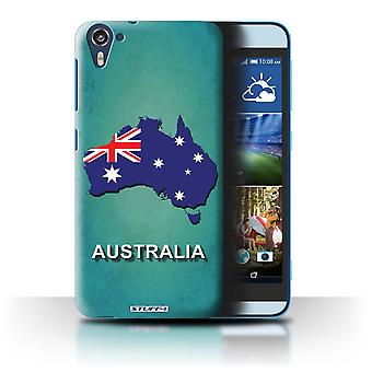 STUFF4 Case/Cover for HTC Desire 826/Australia/Australian/Flag Nations