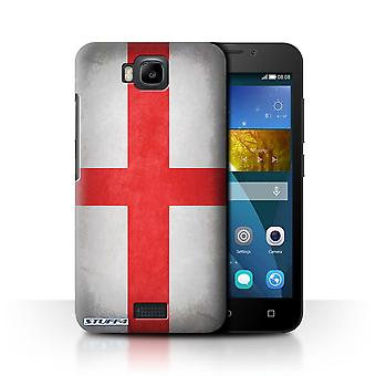 STUFF4 Case/Cover for Huawei Honor Bee/Y5c/England/English/Flags