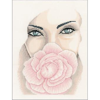 LanArte Floating On Linen Counted Cross Stitch Kit-8.75