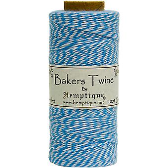 Hemptique Cotton Bakers Twine Spool 2 Ply 410 Feet Pkg Blue White Bts2 2935