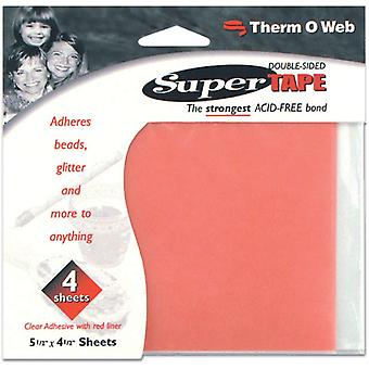 Super Tape Double Sided Sheets 4 Pkg 5.5