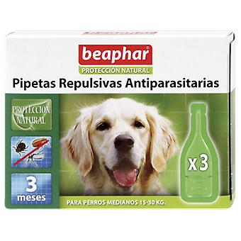 Beaphar Chien antiparasitaire Repulsive Pipettes moyenne 3 x 1 ml