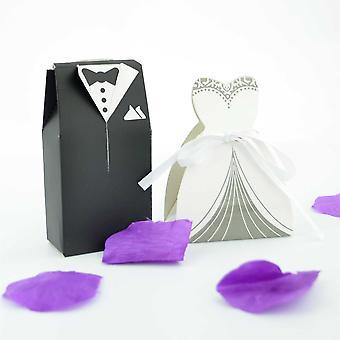 10 la novia y el novio boda favor cajas (5 novia & novio 5) estilo 2