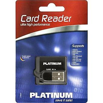 External memory card reader USB 2.0 Platinum