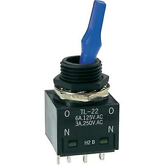 Toggle switch 250 Vac 3 A 2 x On/On NKK Switches TL22SNAG016G latch 1 pc(s)