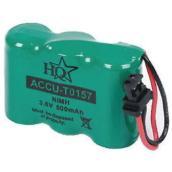 HQ Battery For Cordless 3.6 V 600 Mah Nimh