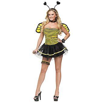 Fantasy Busy Bee honning Bumblebee insekt fe eventyr kvinder kostume