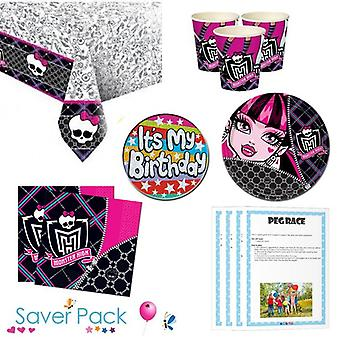 Monster hoge Party servies Saver Pack