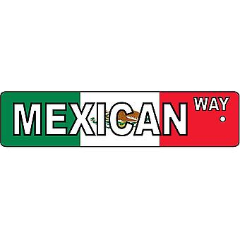 Mexican Way Street Sign Car Air Freshener