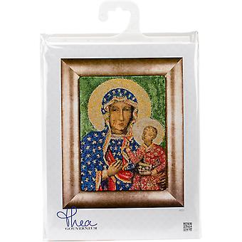 Madonna Czestochowa On Aida Counted Cross Stitch Kit-8.5