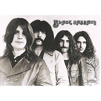 Poster tissu gros Black Sabbath Group Shot / drapeau 1100 x 750 mm (h)