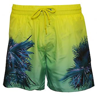 Diesel Electric Palms Print Swim Shorts, Blue/Aqua