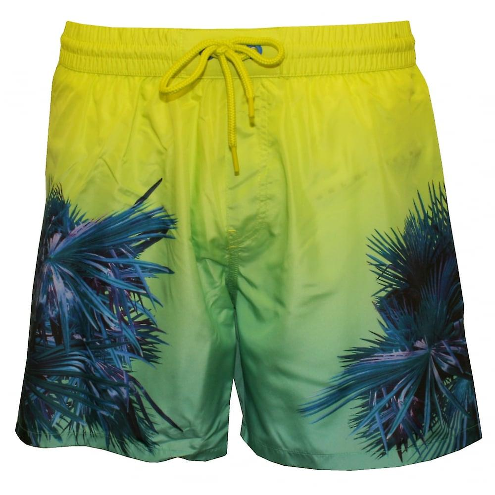 Diesel Electric Palms Print Swim Shorts, Blue/Aqua