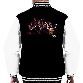 Kiss Performing Gene Simmons Men's Varsity Jacket