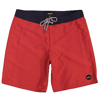 Brixton Plank Board Shorts Red Navy