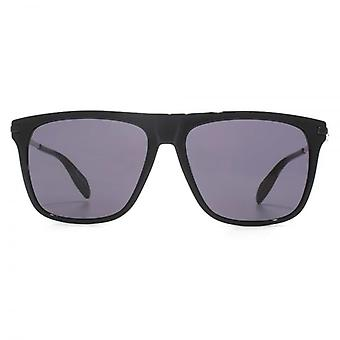 Alexander McQueen Skull Temple Flat Top Sunglasses In Black