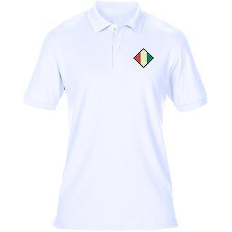 Mercisk regementet broderade TRF Logo - officiella brittiska armén Mens Polo Shirt