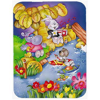 Carolines Treasures  APH0978LCB Animals Kayaking Glass Cutting Board Large