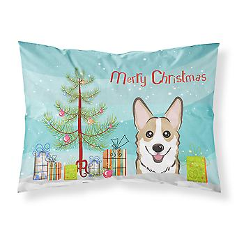 Christmas Tree and Sable Corgi Fabric Standard Pillowcase