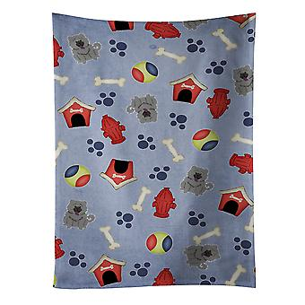 Dog House Collection Chow Chow Blue Kitchen Towel