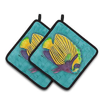 Carolines Treasures  8674PTHD Tropical Fish Pair of Pot Holders