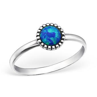 Round - 925 Sterling Silver Jewelled Rings