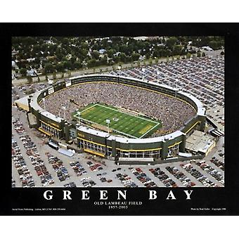Green Bay Wisconsin - Old Lambeau Field Poster Print by Brad Geller (28 x 22)