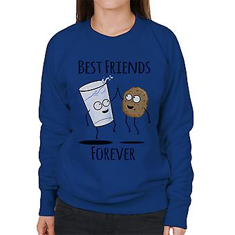 Cookie And Milk Best Friends Forever Women's Sweatshirt