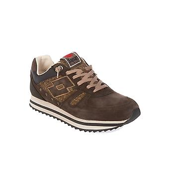 Lotto mænds S0516OFONDANT brun ruskind sneakers