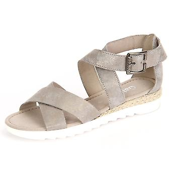 Gabor Rhodos Taupe Caruso Metallic Jute 6271293 universal  women shoes