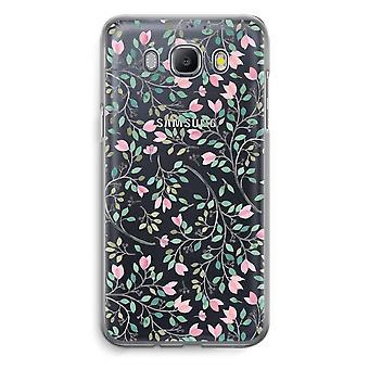 Samsung Galaxy J5 (2016) Transparent fodral - nätta blommor