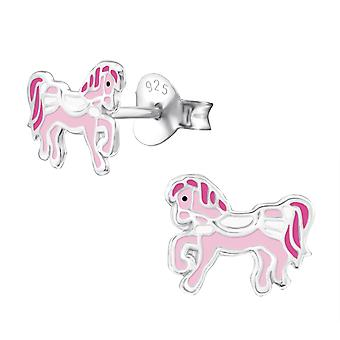 Pony - 925 Sterling Silber farbige Ohrstecker - W30267x