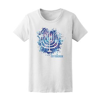 Happy Hanukkah Tee kvinders-billede af Shutterstock
