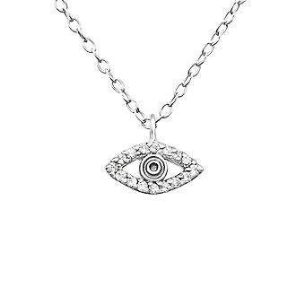 Eye - 925 Sterling Silver Jewelled Necklaces - W23801x