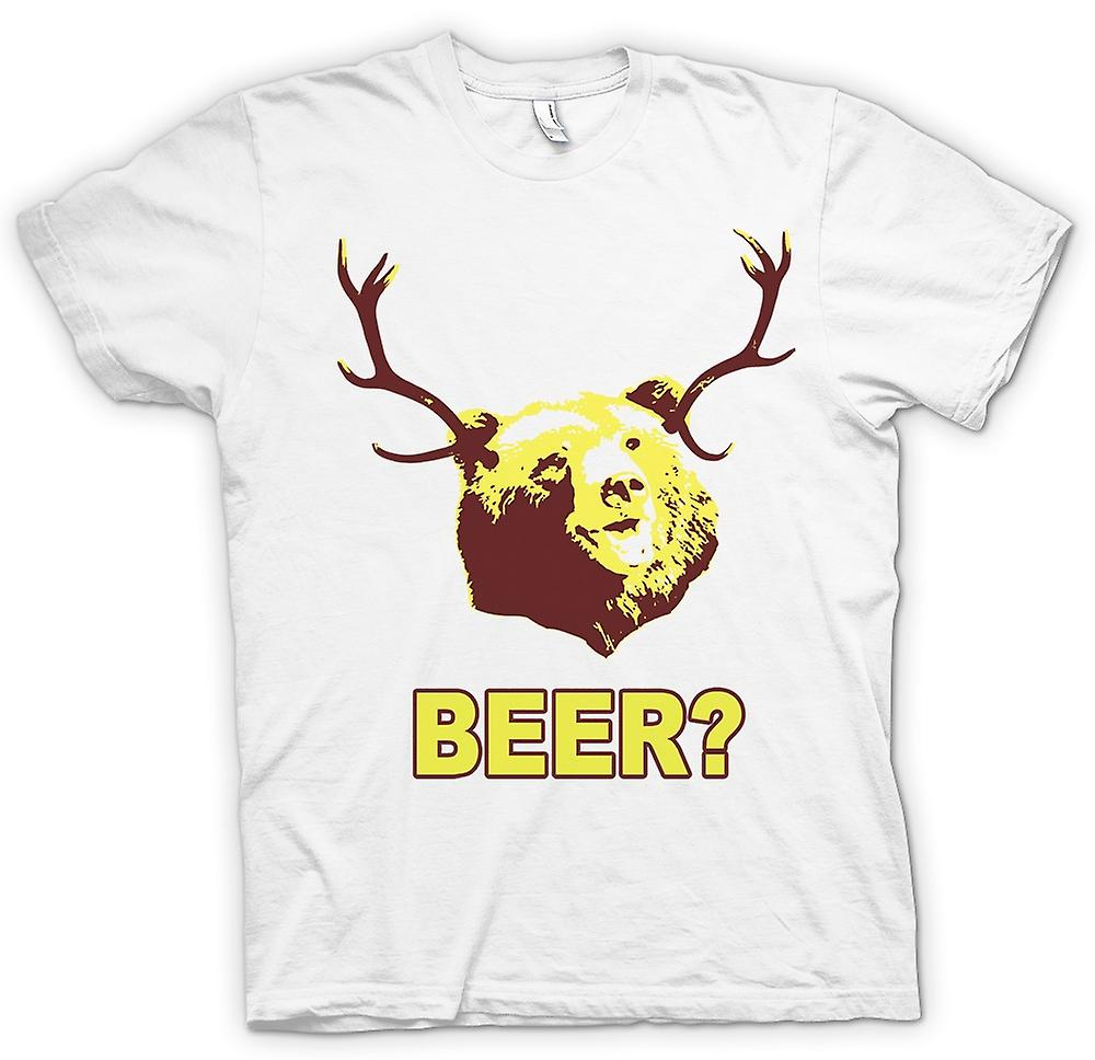 Womens T-shirt - BEER Bear Funny Drinking