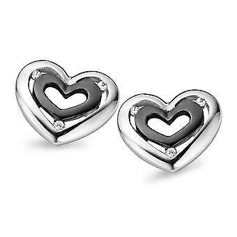 Orphelia Silver 925 Earring Zirconium Black Rhodium   ZO-5012