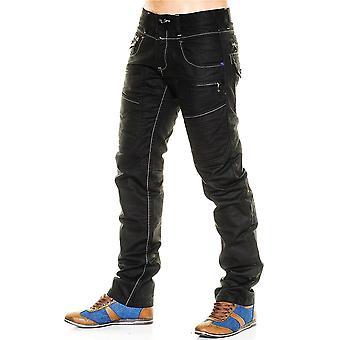 Nye mænd Jeans bukser vintage designer clubwear Destroid sort Tokyo