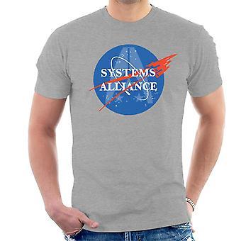 Mass Effect Normandy Systems Alliance Nasa Logo Men's T-Shirt
