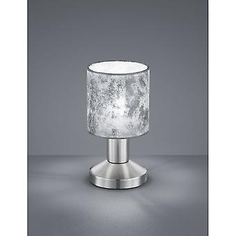 Trio Lighting Garda Modern Nickel Matt Metal Table Lamp